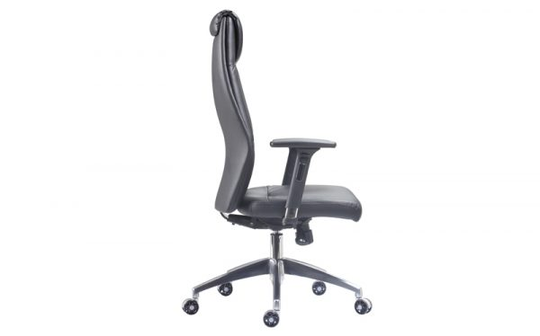 executive faux leather chair side