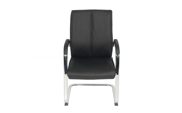 executive faux leather meeting chair front