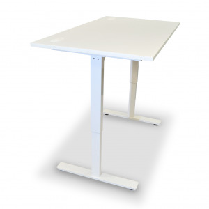 Enzo Motorized Electric Sit-Stand Desk, Height Adjustable, White (New)