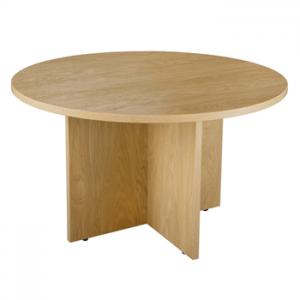 Endurance Circular Office Meeting Table, Light Oak/Beech. Buy New.