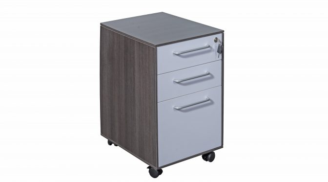 Naples Modern Executive Under Desk Office Mobile Pedestal Drawer (new)