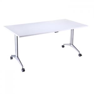 Endurance Office Fliptop Table With Wheels - White/Beech/Light Oak