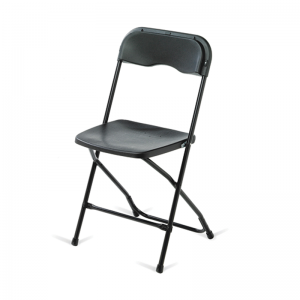 Second hand black folding chairs
