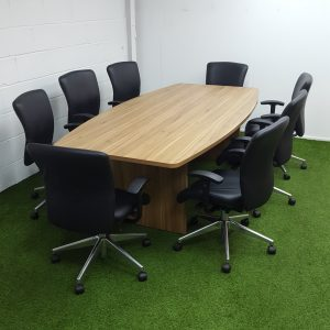 Boat Shaped Boardroom Table