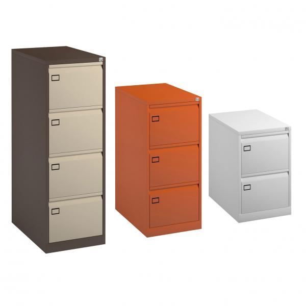 Bisley Metal Filing Cabinet, 2 / 3 / 4 Drawer, Lockable, 10 Colours (new)