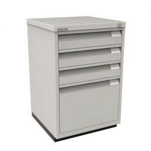 Bisley 3 Plus 1 Multidrawer Office Filing Cabinet / Mobile Under Desk Pedestal, Lockable (new)