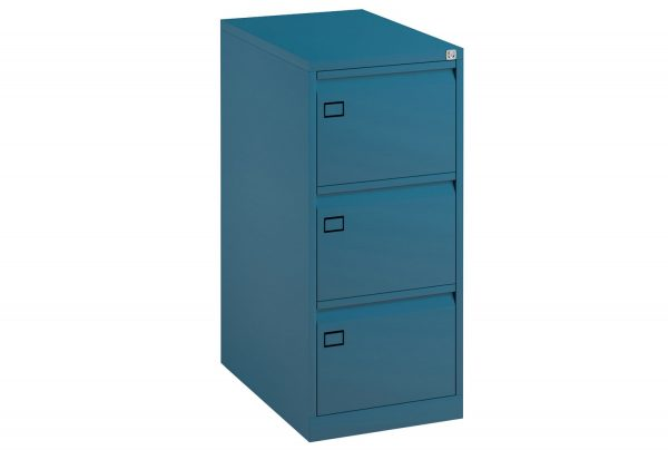 Blue Bisley Economy Metal Filing Cabinet 3 Drawer