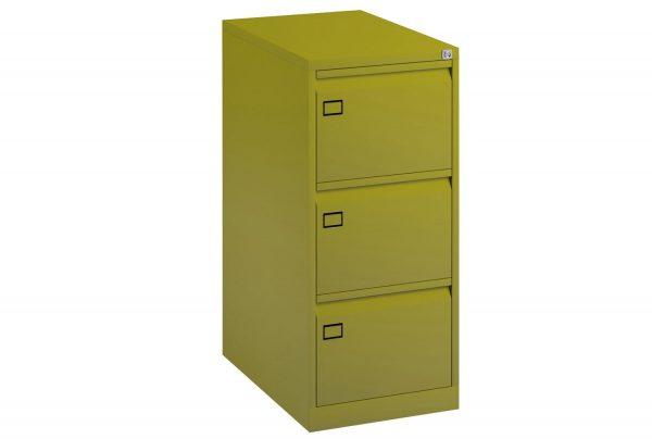 Green Bisley Economy Metal Filing Cabinet 3 Drawer