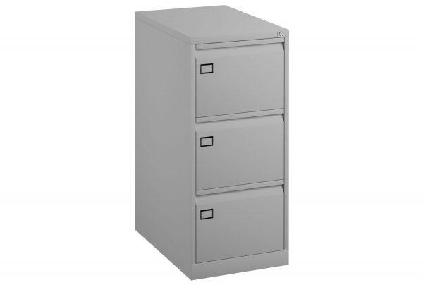 Grey Bisley Economy Metal Filing Cabinet 3 Drawer