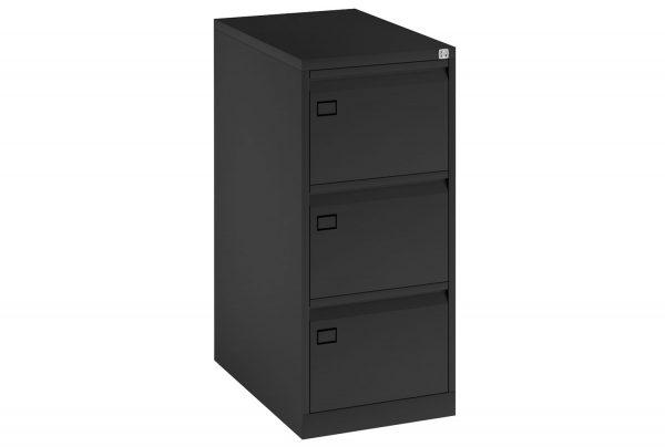 Black Bisley Economy Metal Filing Cabinet 3 Drawer