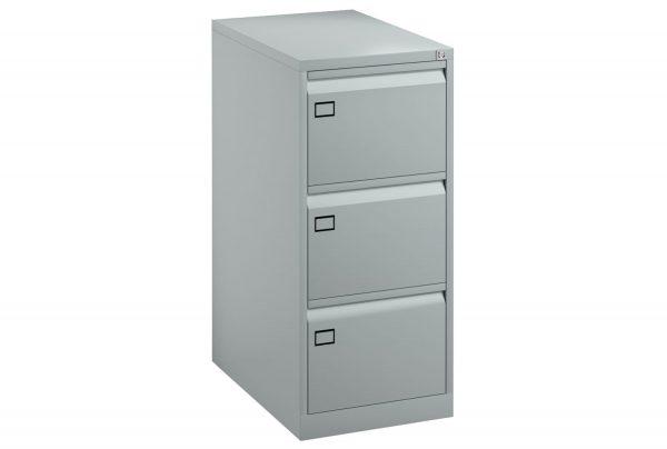 Silver Bisley Economy Metal Filing Cabinet 3 Drawer