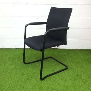 Used Haworth Comforto Meeting / Conference Chair, Stackable, Black