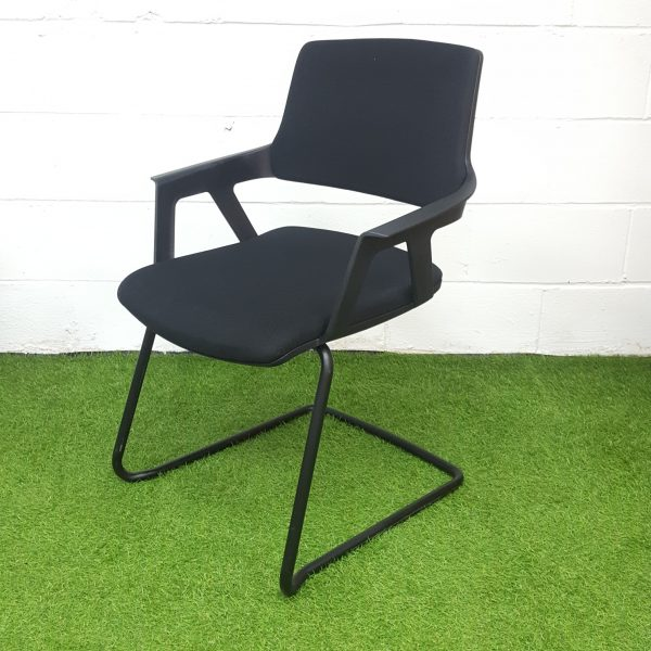 Used Interstuhl Multi Purpose Conference / Meeting Chair, Black, Armrests