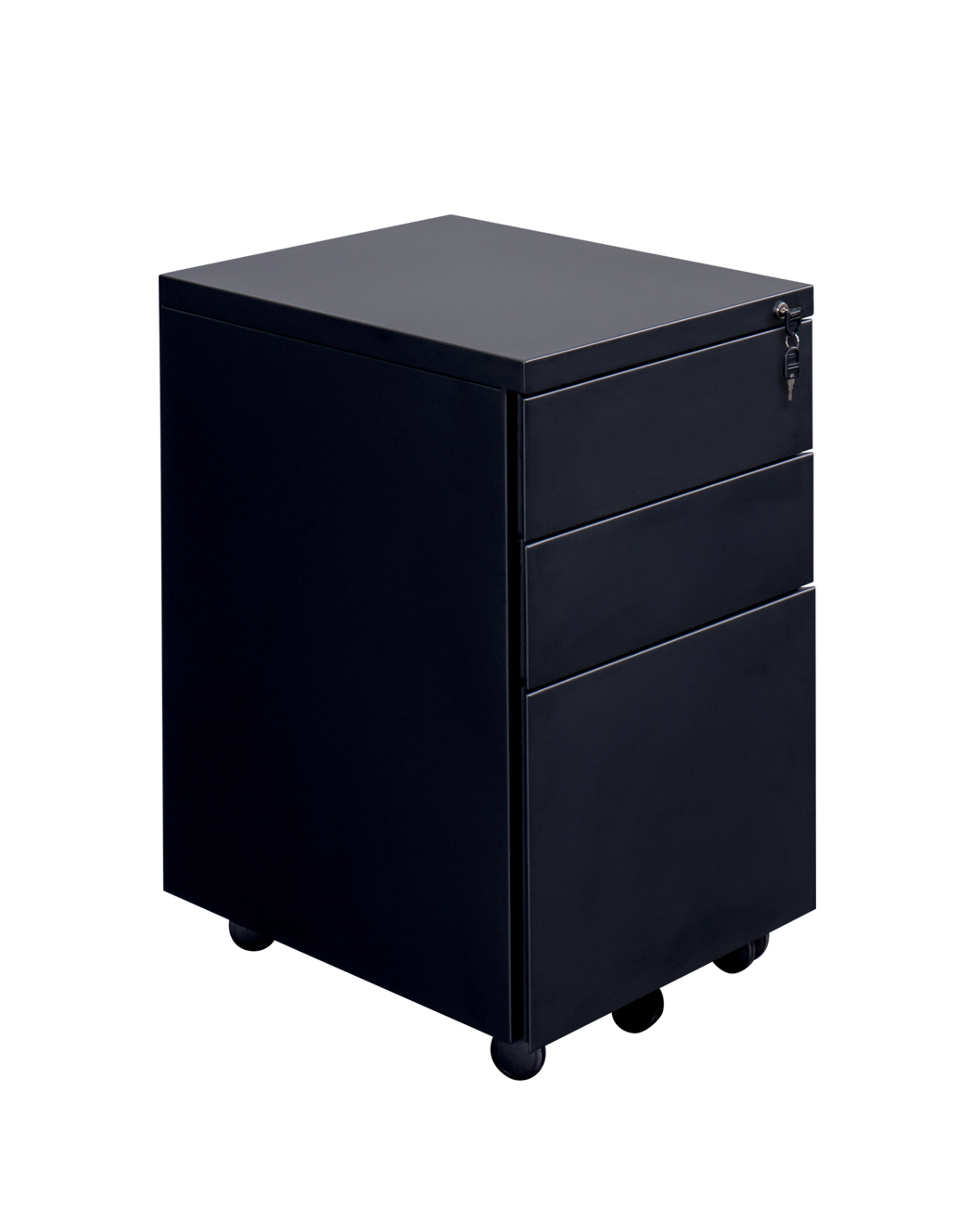 3 Drawer Endurance Metal Under Desk Office Pedestal Black