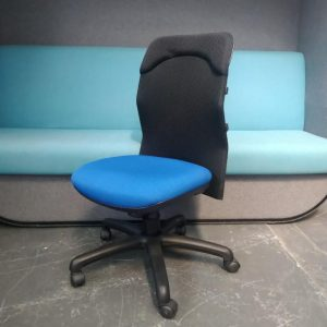 Elite Designer Mesh Office Chair, Lumber Support, Black & Blue Colour. £40
