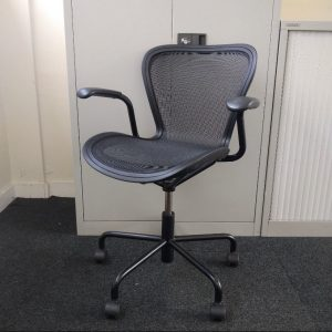 Magis Annett Designer Mesh Office Chair, Armrests, Black, Very Stylish