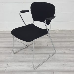 Used KI Office Meeting Chair, Cantilever Frame, Back Tilt, Black £45+VAT
