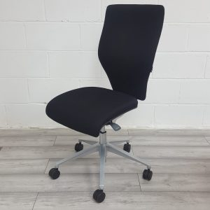 Orangebox Office Task Chair, Adjustable, No Armrests, Black £65+VAT