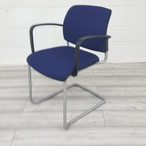 Used Verco Visual Conference Meeting Chair, Stackable, Modern, (Blue)