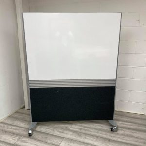 Whiteboard Divider / Office Privacy Screen, Floor Standing With Wheels