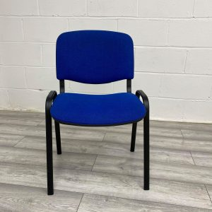 Used Blue Fabric Stacking Meeting / Visitor / Multipurpose Chair