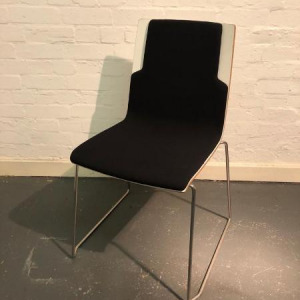 Used Sedus Modern Multipurpose Stacking Chair, Sled Frame, Black