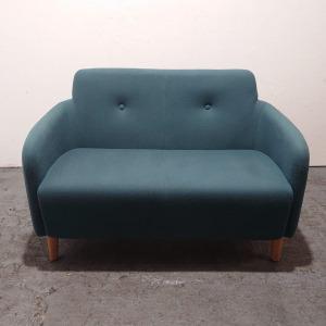 Used Classic 2 Seater Sofa, Teal Blazer Fabric