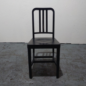 Used Billiani Wooden Dining Chair, Traditional, Black (Set Available)