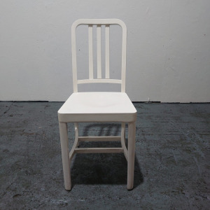 Used Billiani Wooden Dining Chair, Traditional, White (Set Available)