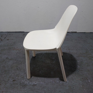 Used Sedia Lino Piu + Multipurpose Dining Chair, Stackable, Off White