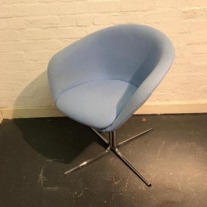 Used Arper Duna 02 Designer Italian Tub Chair / Armchair, Swivel Base