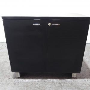 Used Mid Height Office Storage Cupboard, 1 Shelf, Black