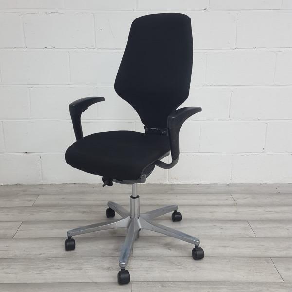 Used Giroflex G64, Black Task Operator Chair, Adjustable Arms
