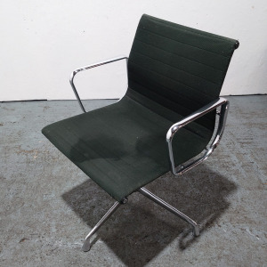Used ICF Conference / Meeting Chair, Armrests, Swivel Base, Black