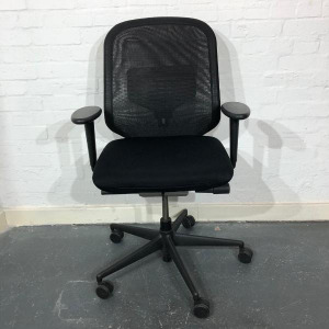 Used Vitra MedaPal Mesh Office Chair with Back Support, Black
