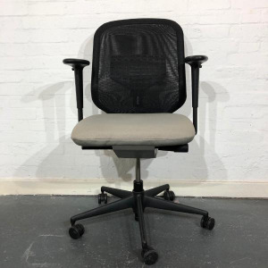 Used Vitra MedaPal Mesh Back Task Chair with Lumbar Support, Grey