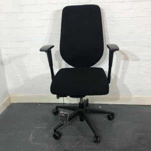 Used Boss Design Komac Key Office Chair, Armrests, Swivel Base, Black
