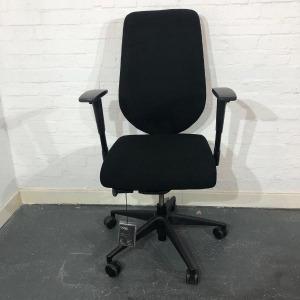 Used Boss Design Komac Key Office Chair, Armrests, Swivel Base, Black
