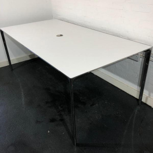 Used Konig + Neurath Designer 6 Person Meeting Table, White L2000mm