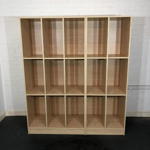 Used Bookshelf, Pigeonhole Unit, Maple Finish, Width 620mm & W920mm