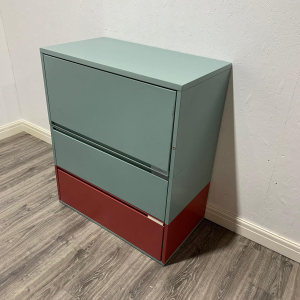 Used Meridian Metal Mid Height Side Filing Cabinet, Height 1080mm