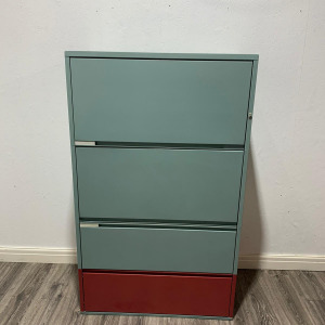 Used Meridian Metal Side Filing Cabinet With 4 Drawers, Height 1510mm