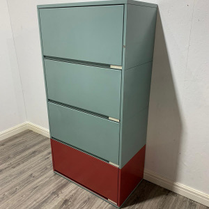 Used Meridian Metal Side Filing Cabinet With 4 Drawers, Height 1800mm