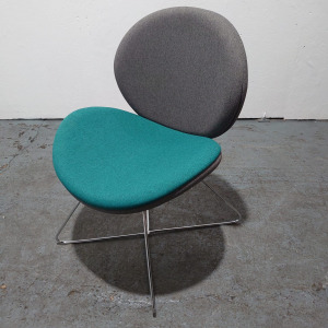 Used Ocee Design Giggle Modern Reception / Breakout Chair, Skid Frame