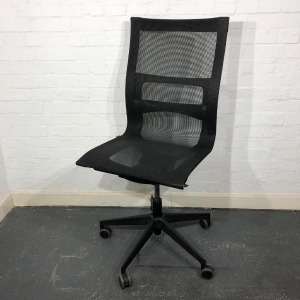 Used ICF Una Plus Designer Mesh Chair, Lumbar Support, No Armrests