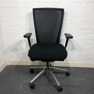 Used Techo T50 Mesh Task Chair For Sale, Ergonomic, Armrests, Black
