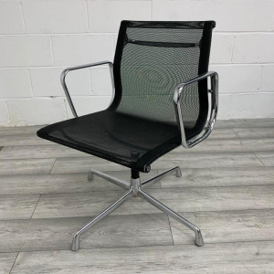 Used ICF Eames 108 Modern Mesh Office Meeting Chair With Armrests