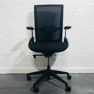 Used Interstuhl Everyis1 Mesh Office Task Chair, Lumbar Support, Black
