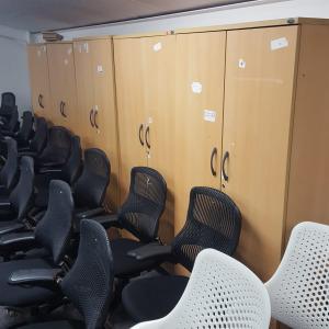 Second Hand Tall 2 Beech Door Cupboard, Shelves, Width 1000mm x Height 2000mm. £99+VAT. Buy Online – City Used Office Furniture UK