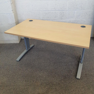 Used Claremont Rectangular Desk In Maple With Cantilever Legs
